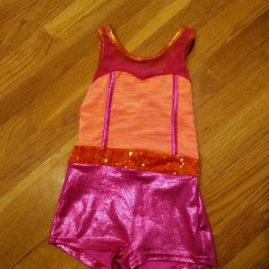 Curtain call costume orange/pink CXS
